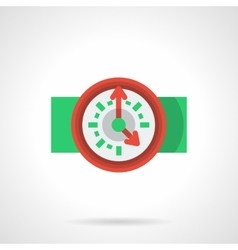 Flat icon for deadline vector
