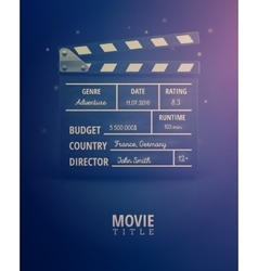 Movie Information vector image