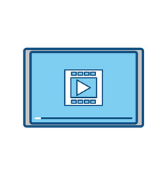movie screen with play button vector image vector image