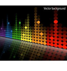 multicolored equalizer vector image vector image