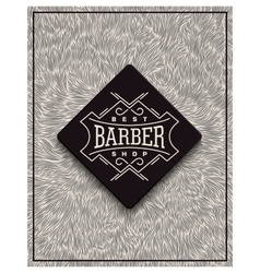 Poster design for Barbershop vector image vector image