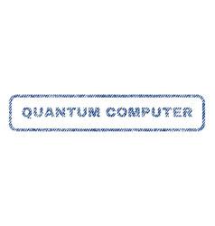 Quantum computer textile stamp vector