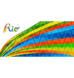 Rio brazil colorful banner design for sport games vector