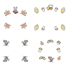Set of autumn frames Cute vector image vector image