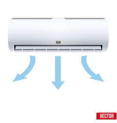Split air conditioner house system vector
