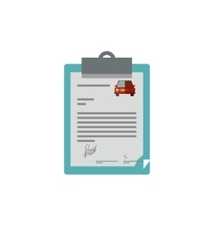 Table notepad with car contract vector