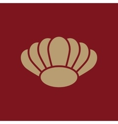 The shell icon ocean symbol flat vector