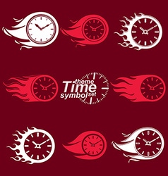 Time is running out concept invert timers with vector