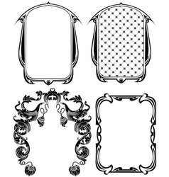 Vintage Frames Elements Set vector image vector image