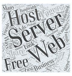 Windows dedicated server word cloud concept vector