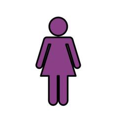 Woman avatar figure silhouette icon vector