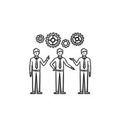 workforce hand drawn sketch icon vector image vector image
