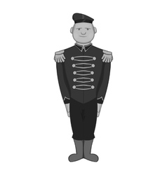 British soldier in uniform icon vector
