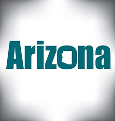 Arizona state graphic vector