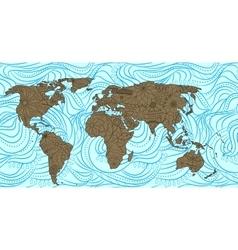 Decorative world map vector