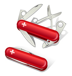 Swiss Knife Tools Icons vector image