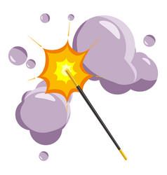 Magic wand icon cartoon style vector
