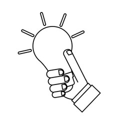 bulb silhouette draw vector image