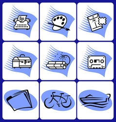 Art and leisure icons vector