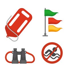 Set of rescue items vector