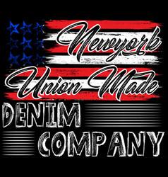 Denim america flag typography t-shirt graphics vector