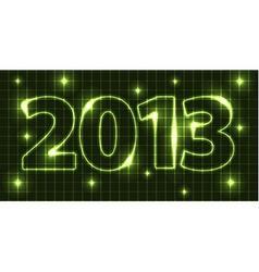 Neon new year card 2013 vector