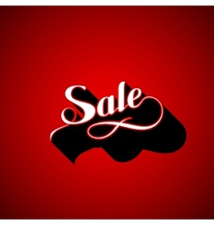 Handwritten sale retro label vector