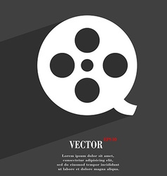Film icon symbol Flat modern web design with long vector image