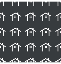Straight black cottage pattern vector