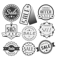 Set of sale and discount labels badges vector
