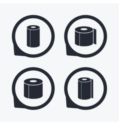 Toilet paper icons kitchen roll towel symbols vector