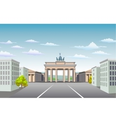 Brandenburg gate of germany vector