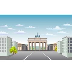 Brandenburg Gate of Germany vector image