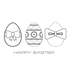 Set of flat icons easter eggs vector