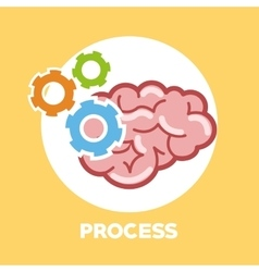 Graphic design of process vector