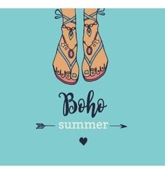Bohemian summer poster vector image