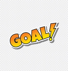 Goal cartoon sport text sticker vector