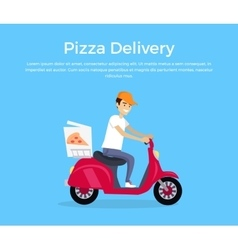 Pizza delivery concept banner design vector