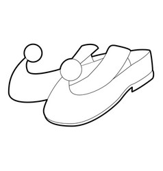 arabic shoes icon outline style vector image