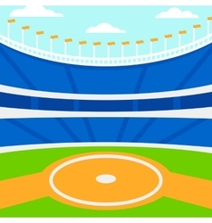Background of baseball stadium vector image