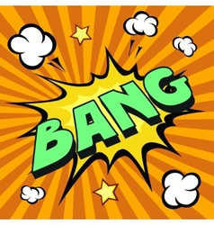 Bang cartoon comic explosion vector