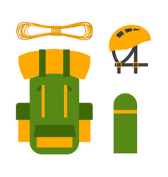 Climbing trekking backpack vector