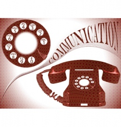 communication composition vector image