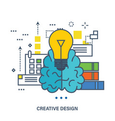 Concept of creative design and brainstorming vector