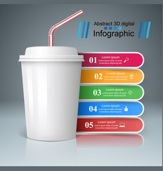 Cup of coffee tea icon bussiness infographic vector