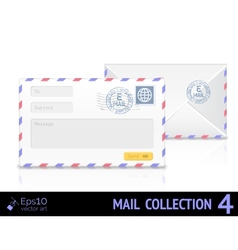 Email envelope isolated on white background vector