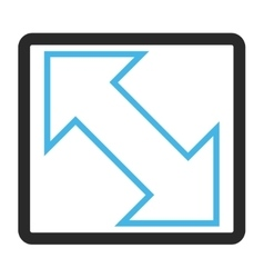 Exchange diagonal framed icon vector