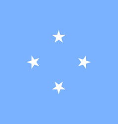 Flag federated states micronesia flat style vector