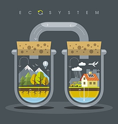 Flat Ecosystem vector image vector image