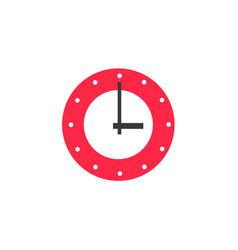 flat wall mounted analog clock vector image